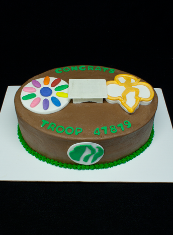Girl Scout Crossover Cake