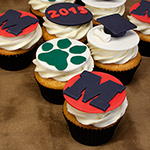 Milford High School Graduation Cupcakes
