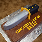 Ranger Knife Graduation Cake