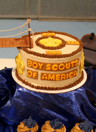 Boy Scout Crossover cake