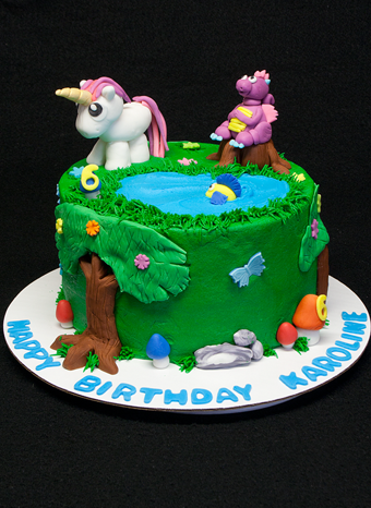 Enchanted Forest Birthday Cake