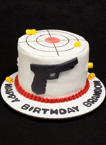 Glock and Target Cake